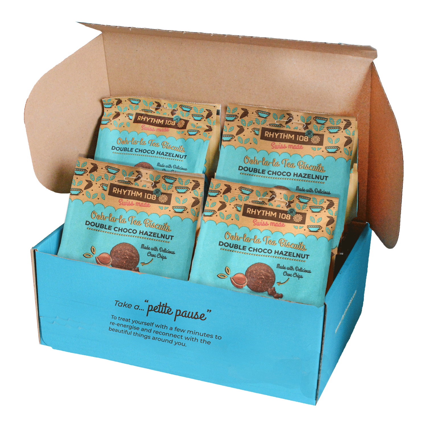 Tea Biscuits Sharebags: DOUBLE CHOCOLATE HAZELNUT SHARE BAG BISCUIT 135g x 4 �C Rhythm 1081500 x 1500 png 760kB